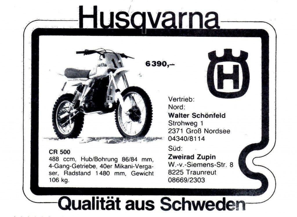 Husqvarna Werbung