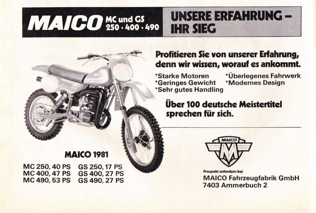 Werbung Maico 1981