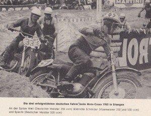 Die 1965er Maico an der Spitze !