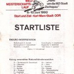Startliste Zschopau 1990