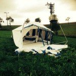 Schaden am Zelt