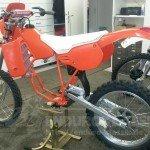 Aufbauphase der Honda