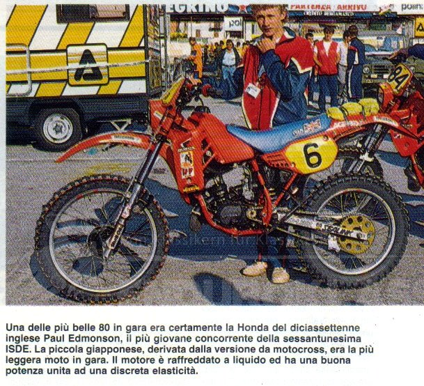 Paul Edmondson mit der CR 80