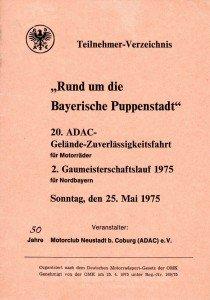 1975 Programm 20. Geländefahrt - 50 Jahre MCN