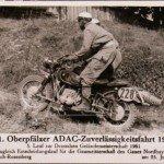 11.Oberpfälzer Geländefahrt 1961. Gespannfahrer Ibscher.