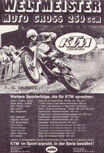 KTM  Erfolge 1974